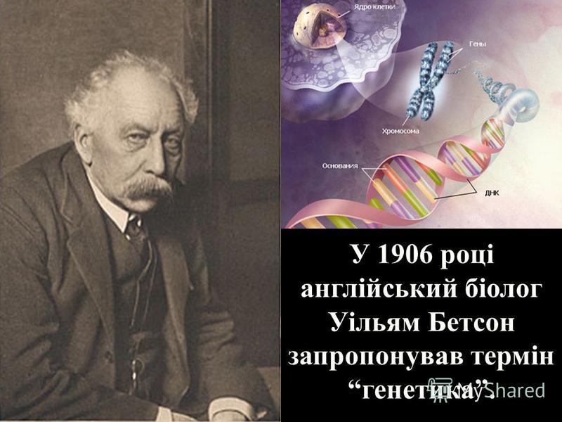 У 1906 році англійський біолог Уільям Бетсон запропонував термін генетика.