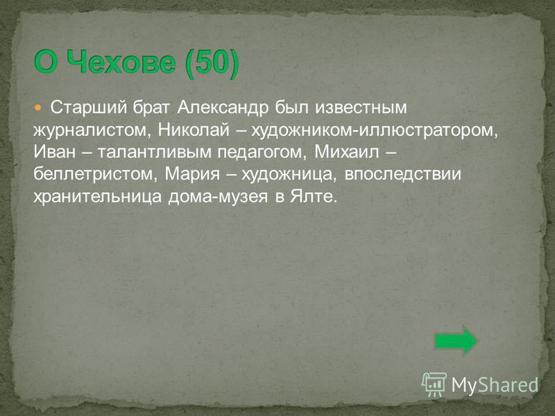 Старший брат Александр был известным журналистом, Николай – художником-иллюстратором, Иван – талантливым педагогом, Михаил – беллетристом, Мария – художница, впоследствии хранительница дома-музея в Ялте.