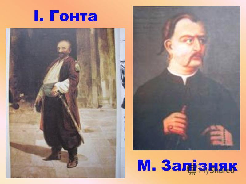 М. Залізняк І. Гонта