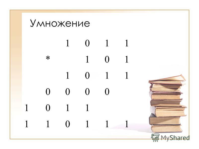 Умножение 1011 * 101 1011 0000 1011 110111