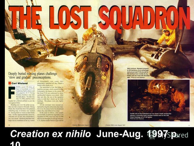 Creation ex nihilo June-Aug. 1997 p. 10