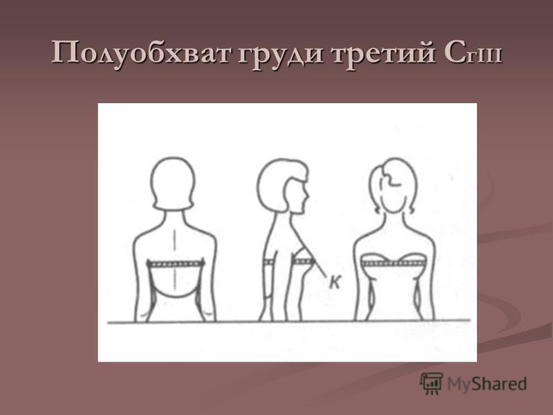 Полуобхват груди третий С г III