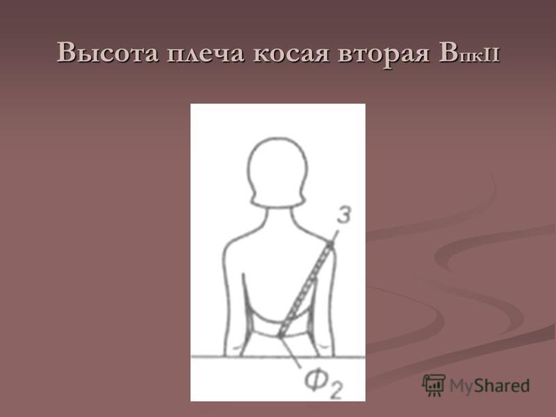 Высота плеча косая вторая В пкII