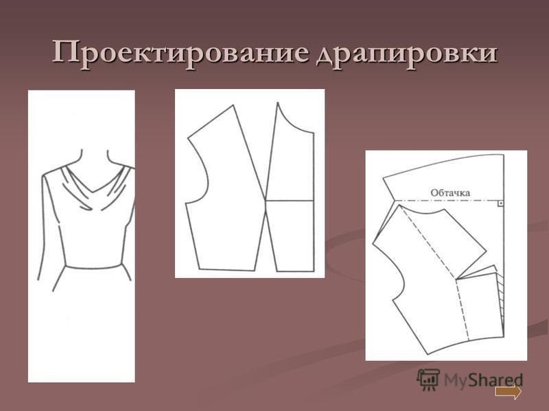 Проектирование драпировки