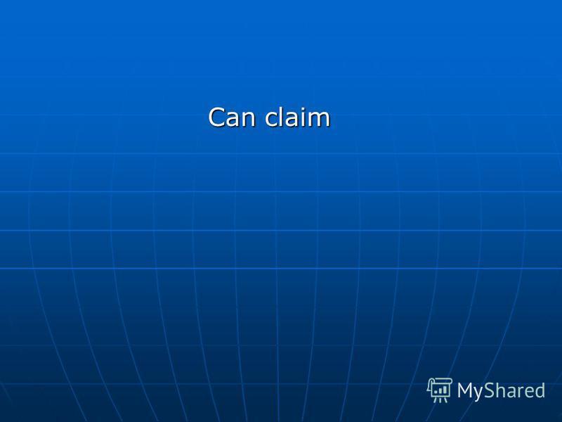 Can claim Can claim