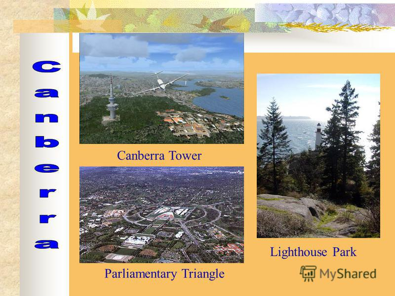 Canberra Tower Parliamentary Triangle Lighthouse Park