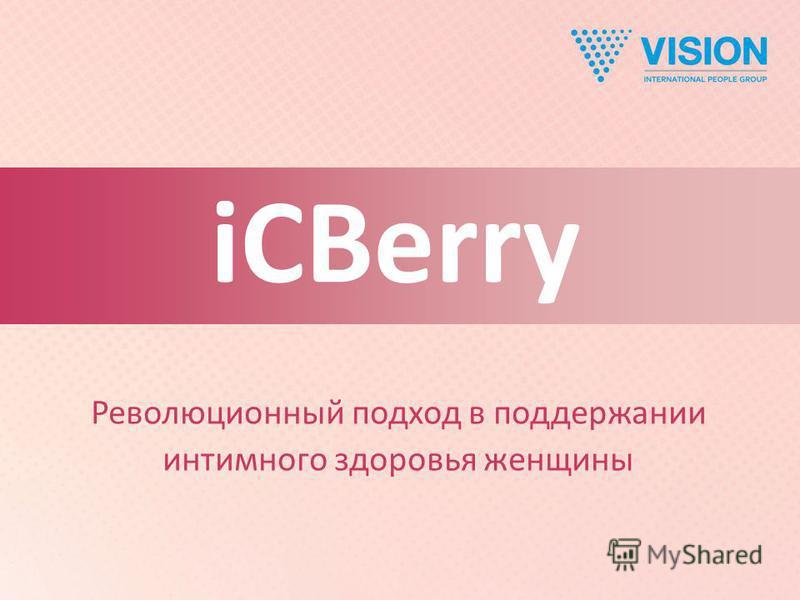 iCBerry Революционный подход в поддержании интимного здоровья женщины iCBerry