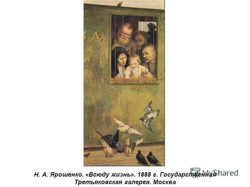 Н. А. Ярошенко. «Всюду жизнь». 1888 г. Государственная Третьяковская галерея. Москва