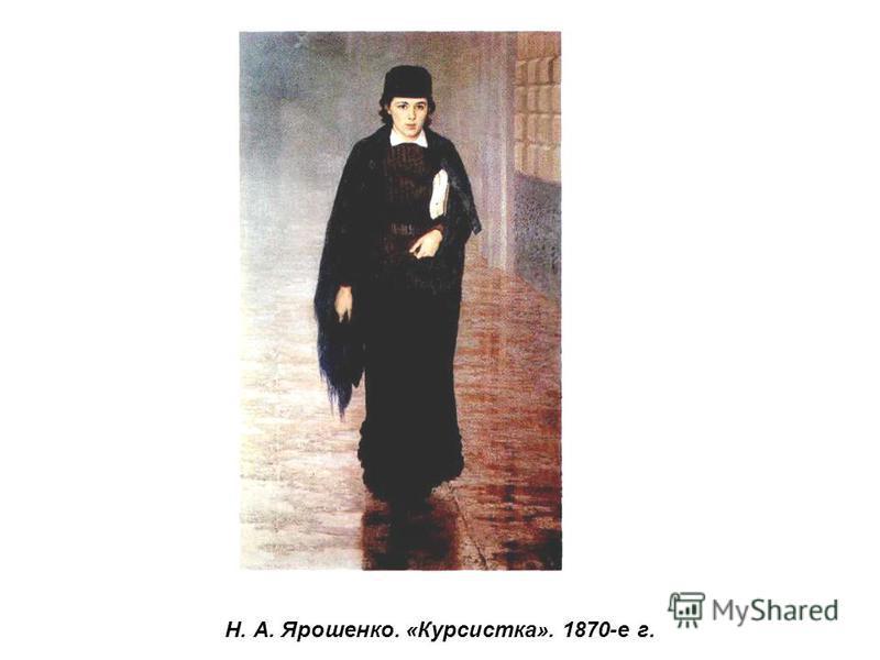 Н. А. Ярошенко. «Курсистка». 1870-е г.