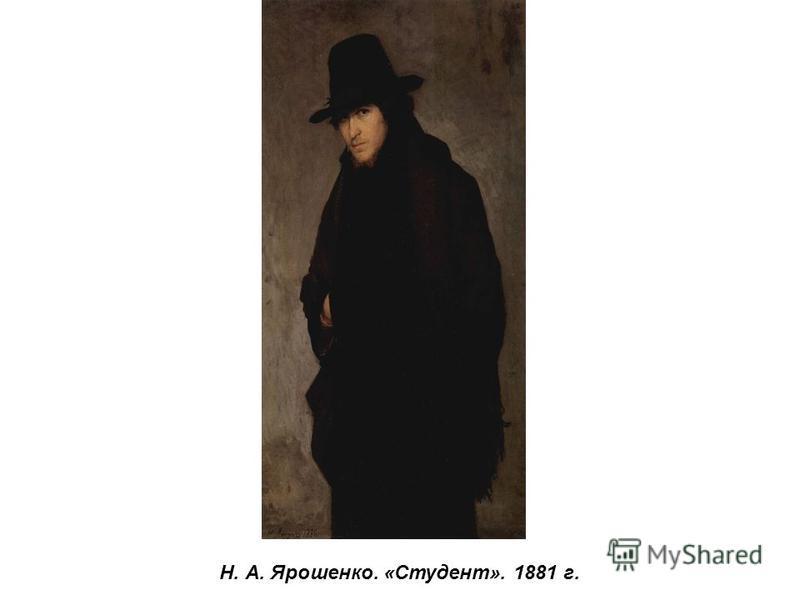 Н. А. Ярошенко. «Студент». 1881 г.