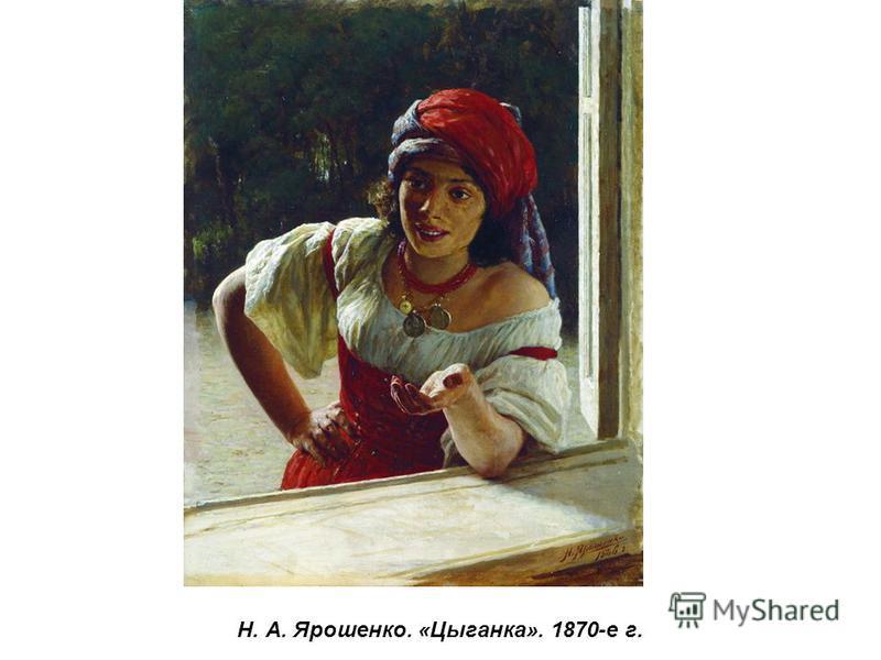 Н. А. Ярошенко. «Цыганка». 1870-е г.