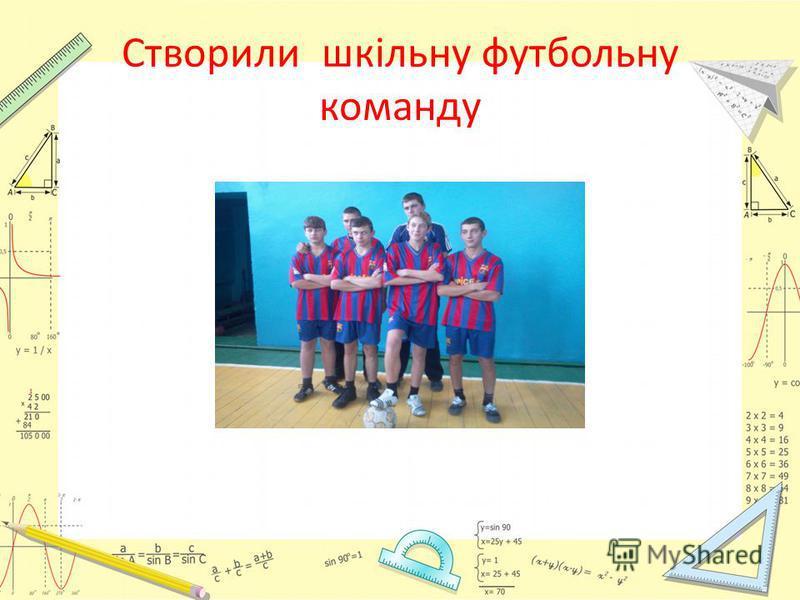 Створили шкільну футбольну команду