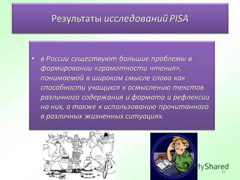 25 Результаты исследований PISA