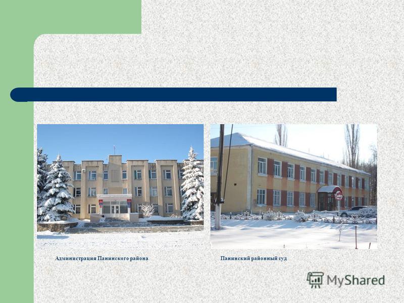 Администрация Панинского района Панинский районный суд