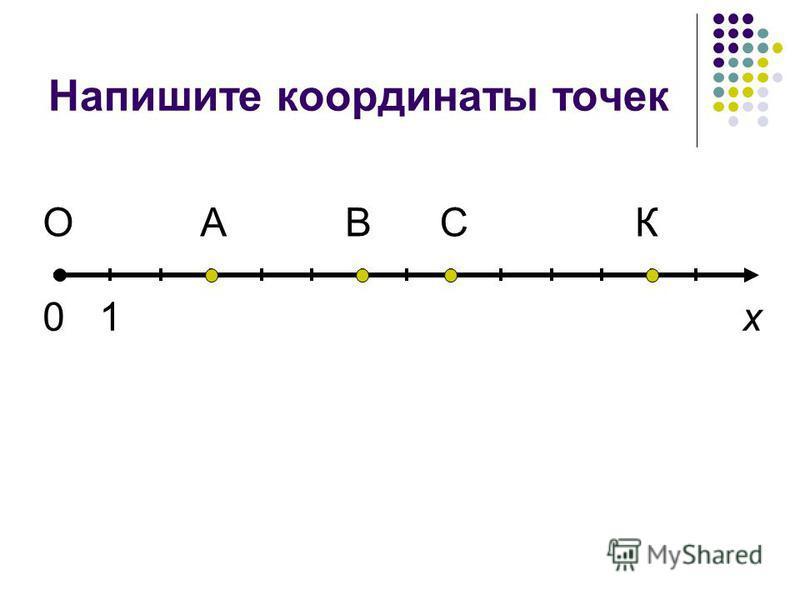 Напишите координаты точек О х АВСК 01
