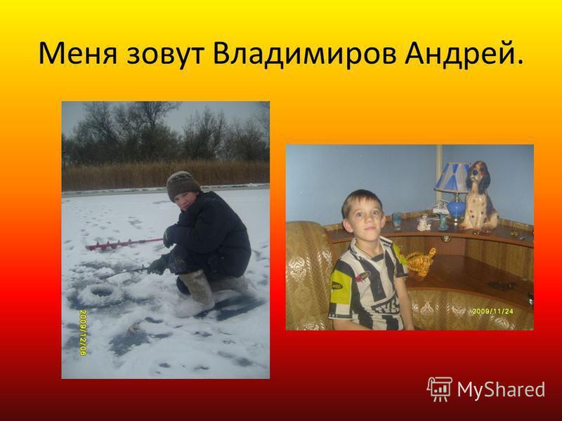 Меня зовут Владимиров Андрей.