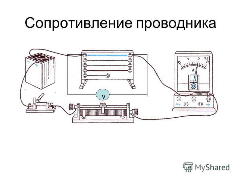 Сопротивление проводника v V