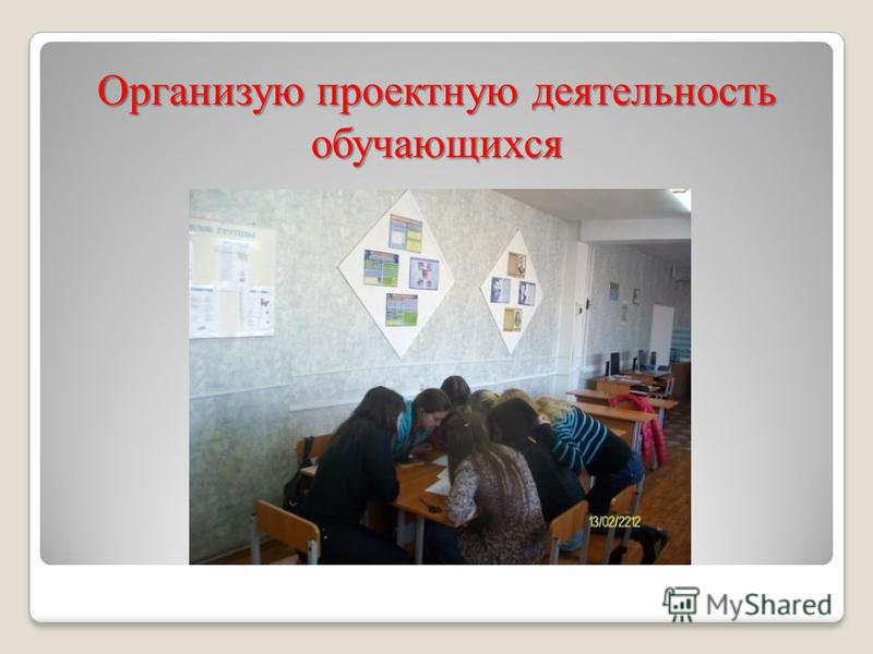 Организую проектную деятельность обучающихся