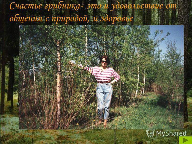 Счастье грибника- это и удовольствие от общения с природой, и здоровье