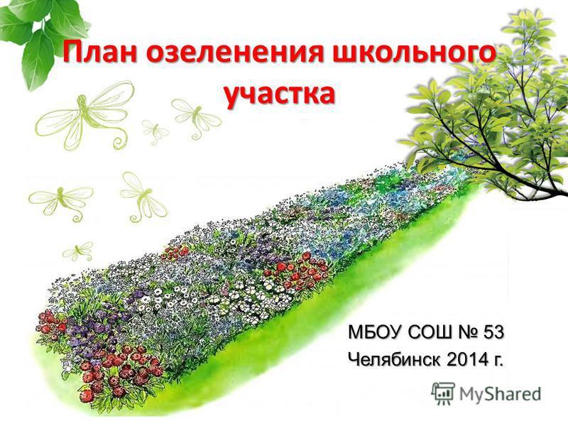 МБОУ СОШ 53 Челябинск 2014 г. План озеленения школьного участка