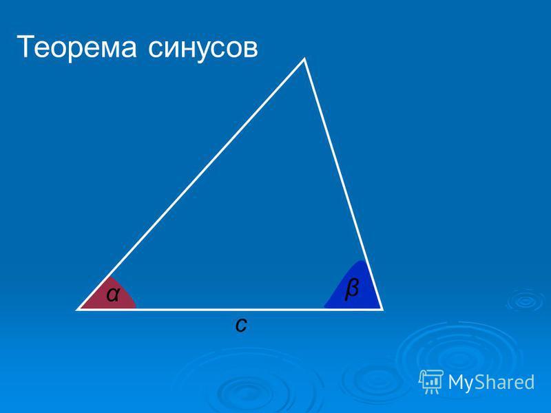 c α β Теорема синусов