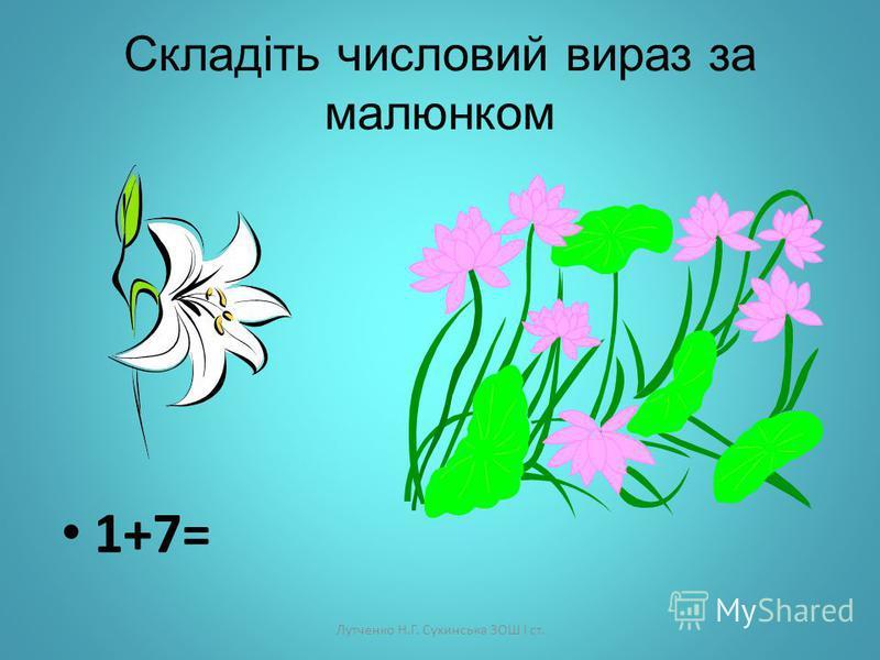 Лутченко Н.Г. Сухинська ЗОШ І ст. Додавання і віднімання числа 7 Математика 1 клас