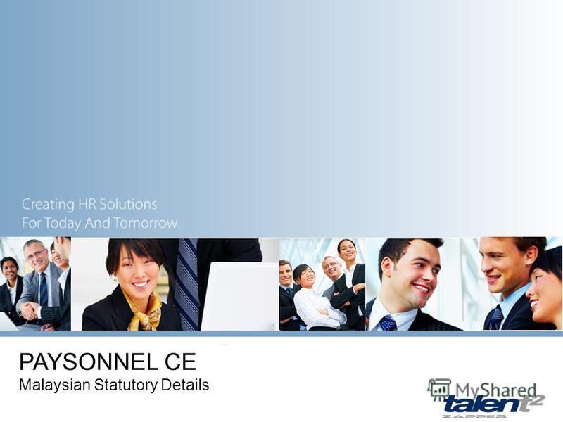 PAYSONNEL CE Malaysian Statutory Details