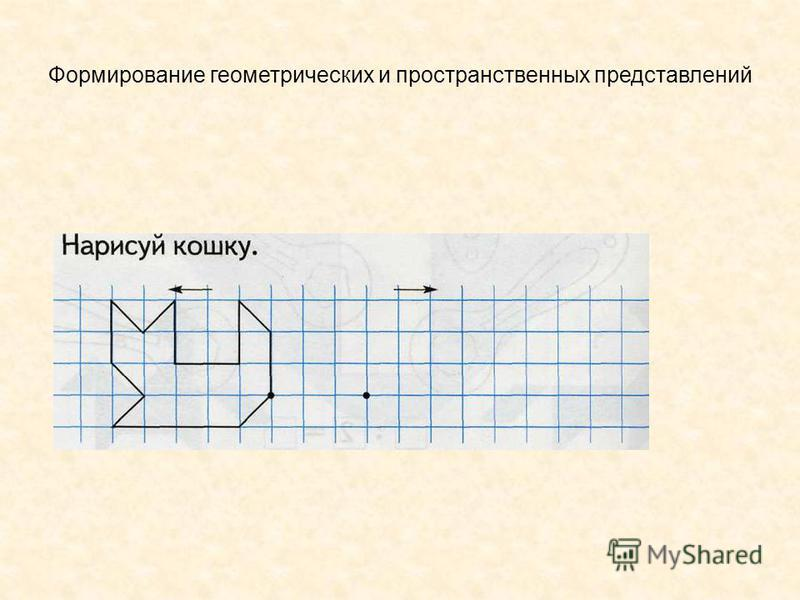 Формирование геометрических и пространственных представлений
