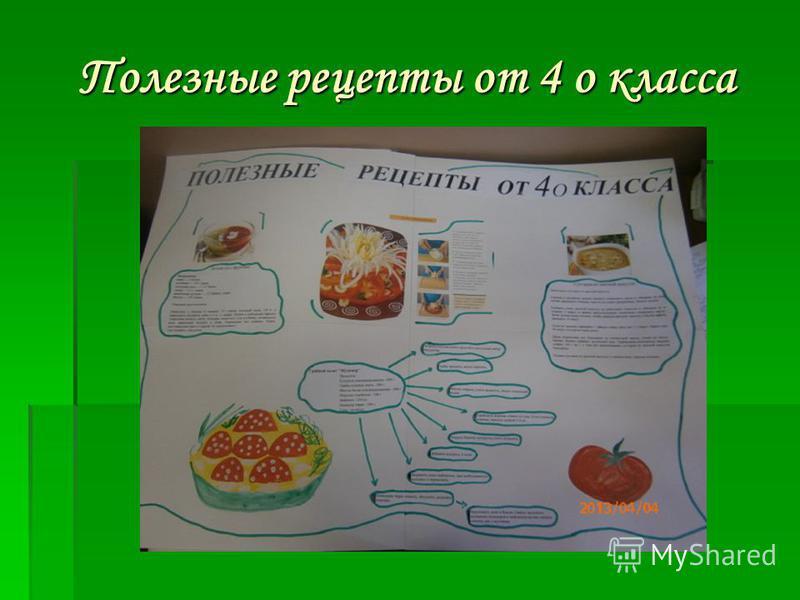 Полезные рецепты от 4 о класса