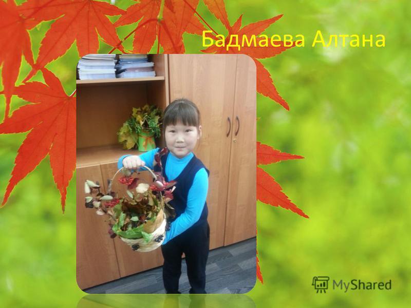 Бадмаева Алтана