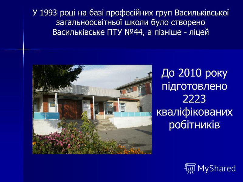 Одна із небагатьох директорів професійно-технічних навчальних закладів не лише області, а й України, яка закінчила Васильківський професійний ліцей.