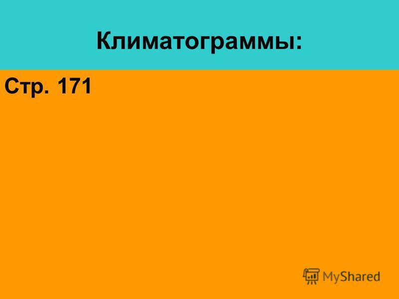 Климатограммы: Стр. 171
