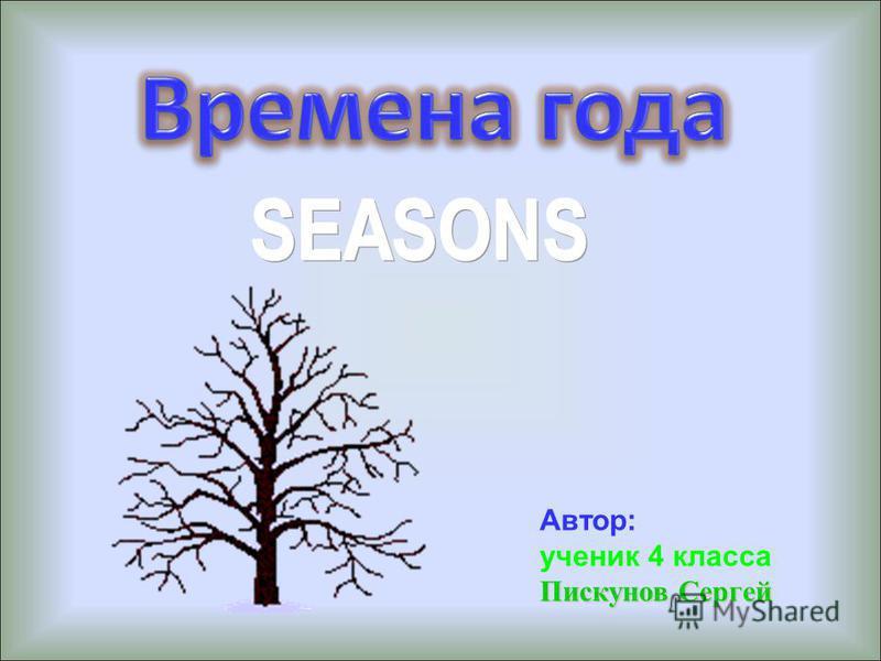 Автор: ученик 4 класса Пискунов Сергей