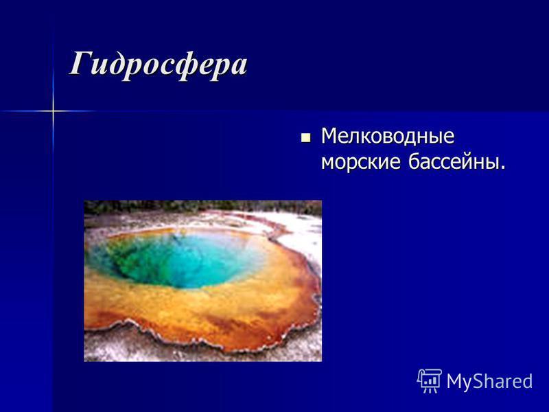 Гидросфера Мелководные морские бассейны. Мелководные морские бассейны.