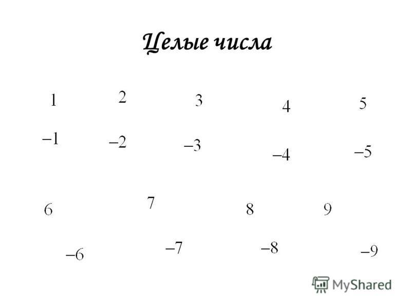 Целые числа