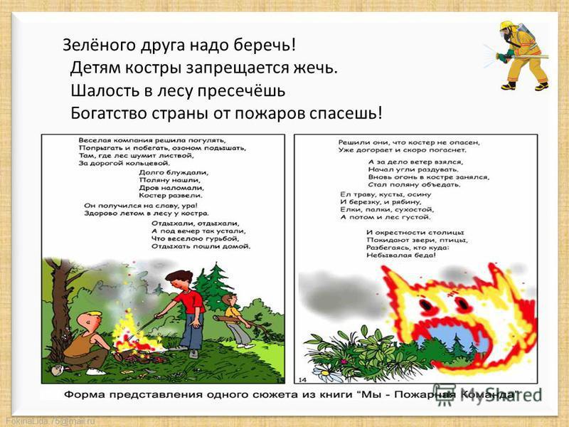 FokinaLida.75@mail.ru Но иногда случается, что из верного друга огонь превращается в беспощадного недруга, уничтожающего все на своем пути