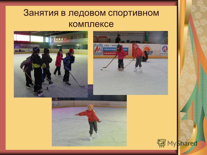 Занятия в ледовом спортивном комплексе