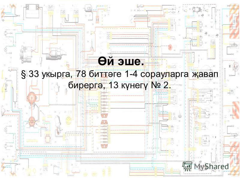 Өй эше. § 33 укырга, 78 биттәге 1-4 сорауларга җавап бирергә, 13 күнегү 2.