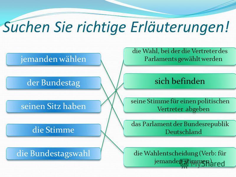 jemanden wählen der Bundestag seinen Sitz haben die Stimme die Bundestagswahl die Wahl, bei der die Vertreter des Parlaments gewählt werden sich befinden seine Stimme für einen politischen Vertreter abgeben das Parlament der Bundesrepublik Deutschlan