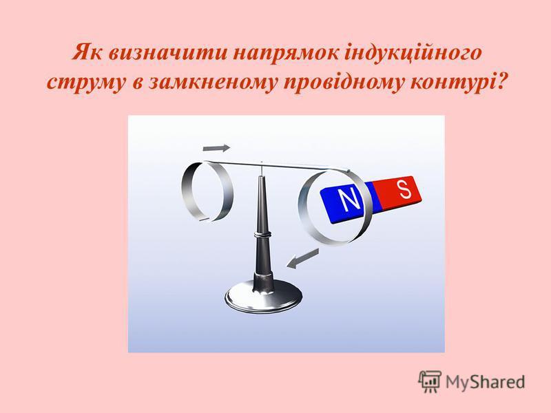 Як визначити напрямок індукційного струму в замкненому провідному контурі?