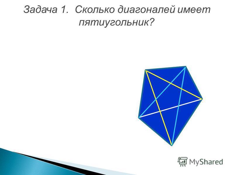Задача 1. Сколько диагоналей имеет пятиугольник?