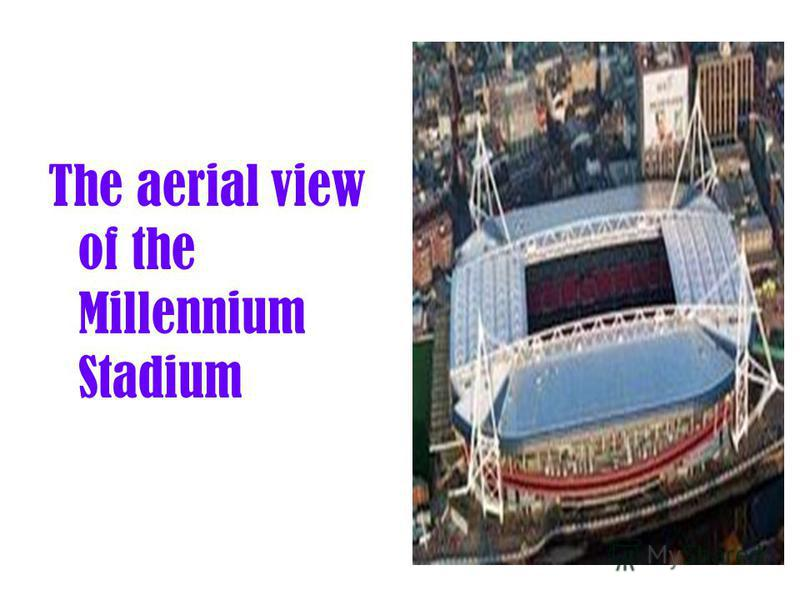 The aerial view of the Millennium Stadium