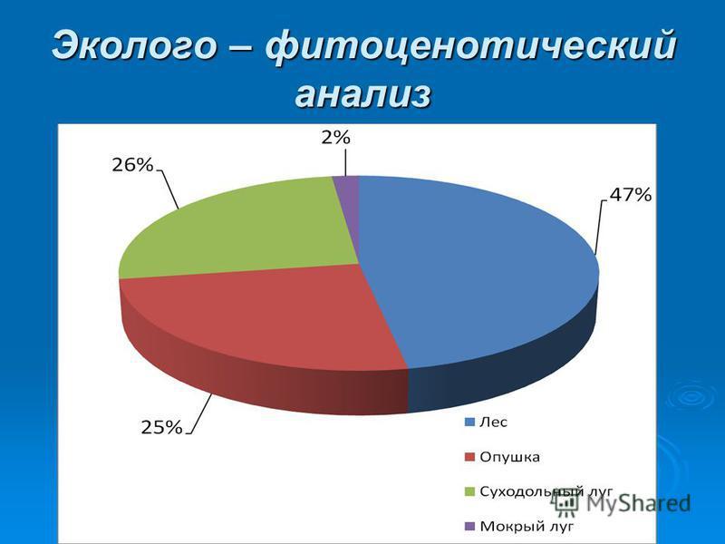 Эколого – фитоценотический анализ