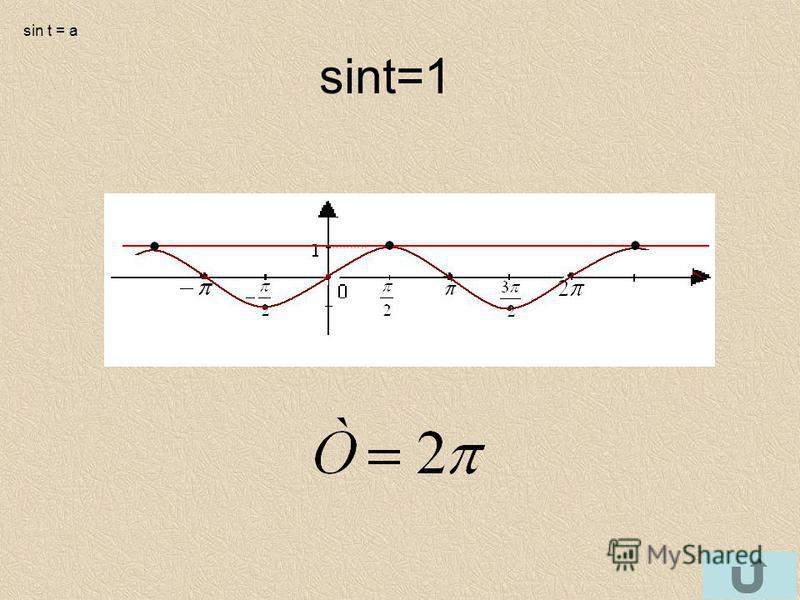 sint=1 sin t = a