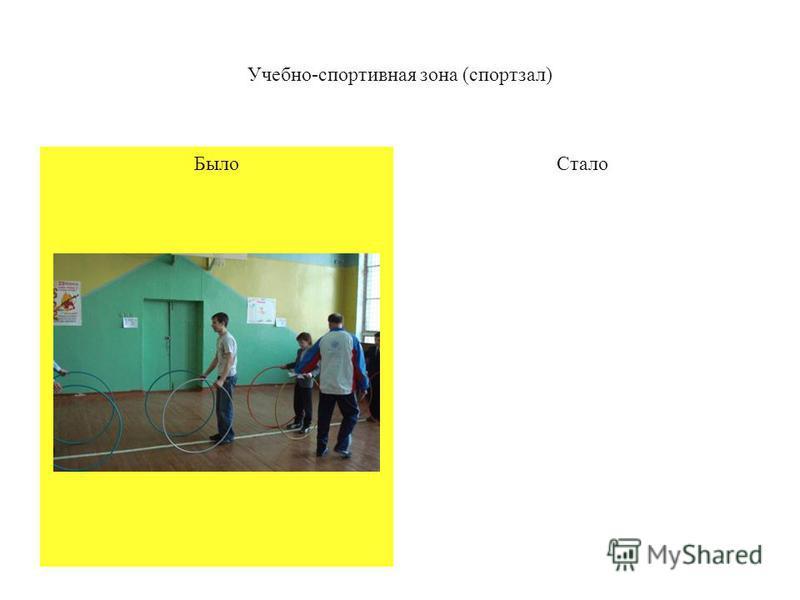 Было Учебно-спортивная зона (спортзал) Стало