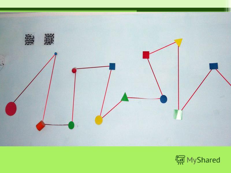 Тренажер для развития прослеживающей функции глаза с объемными и плоскостными фигурами.