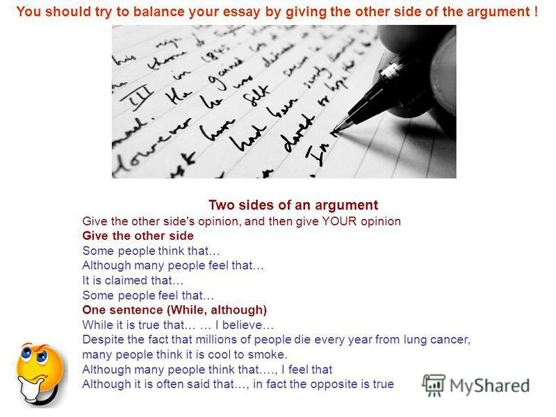 Argumentative essay with two sides