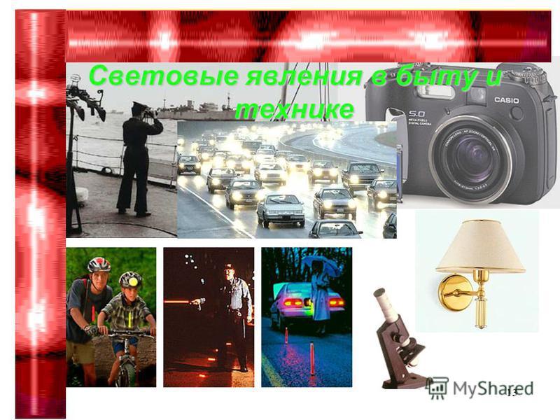 Гимназия 75 Сабирова Р.Р.13 Световые явления в быту и технике