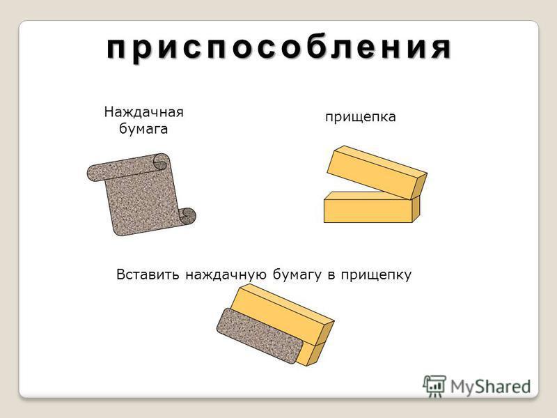 приспособления Наждачная бумага прищепка Вставить наждачную бумагу в прищепку