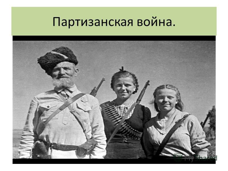 Партизанская война.